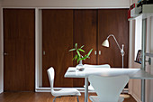Modern home showcase interior and wood doors