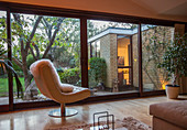 Home showcase interior with view of garden