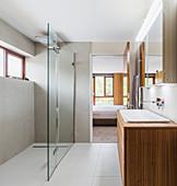 Modern home showcase interior bathroom