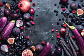 Purple fuits and vegetables