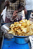 Indian potato chips on the market