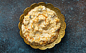 Baba Ganoush - traditional Turkish meze of yoghurt and roasted aubergine