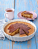 Almond cake with raisins (potted)