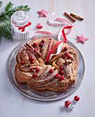 Cinnamon-walnut wreath