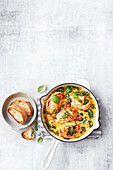Italian chicken casserole with basil