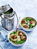 Meatball and risoni soup