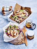 Sesame chicken barley slaw 'to go'