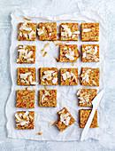 Apricot, orange blossom and coconut squares
