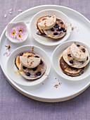 Mini blueberry cakes