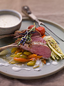 Rack of lamb with grilled fennel