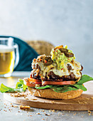 Biltong and cheddar burgers