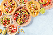 Vegetarian Mexican food: Tacos with vegetables