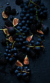 Figs, concord grapes, blackberries and thyme