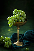 White grapes in a goblet