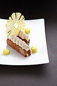 Millefeuille with pineapple cream
