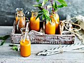 Detox broccoli, orange and carrot juice