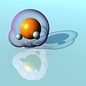 Phosphine molecule, illustration