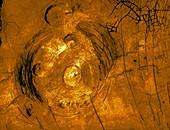 Corona and pancake domes on Venus, radar image