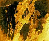 Lava flows on Venus, radar image