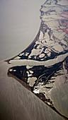 Salt marshes, aerial photograph