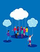 Cloud computing and data portability, illustration