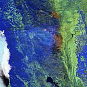 California wildfires, September 2020, Infrared image