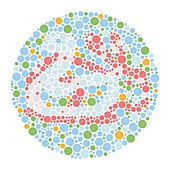Colour blindness test chart, illustration