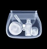 Toiletries bag, X-ray
