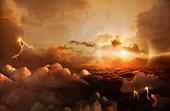 Arwork of Venusian Atmosphere