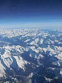French Alps, aerial photograph