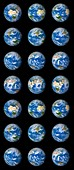 24 hours Earth rotation, illustration