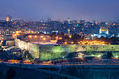 Jerusalem, Israel, at night