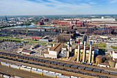 Ford River Rouge Complex and rail yard, Michigan, USA