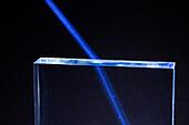 Laser beam refracting
