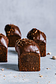 Dark chocolate square muffins