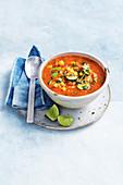 Quinoa, corn, black bean and chipotle soup
