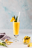 A pineapple shake with ginger