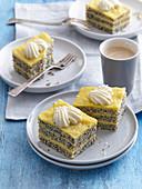 Poppy seeds with egg yolk cream