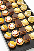 A selection of sweet canapés