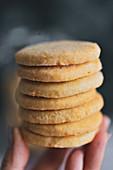 Shortbread cookies in your hand