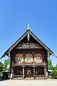 A wooden house at the Alexandrowka Museum, Potsdam, Brandenburg, Germany