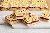 Jam crumble cake