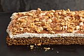 Cappuccino tray bake cake