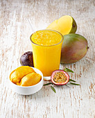 Mango and passion fruit slush and sorbet