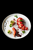Variations of lobster with Jerusalem artichokes