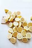 Lots of halved lemons