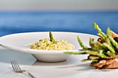 Pasta dish with asparagu