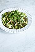 Lentil salad with celery and herbs