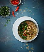 Lentil dhal with chilli