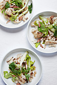 Warm cauliflower salad with almonds